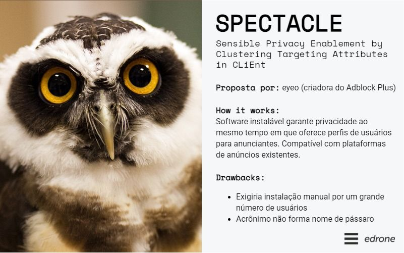descrição geral do spectacle - sensible privacy enablement by clustering targeting attributes in client